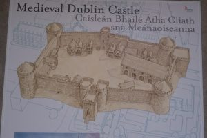 Medieval Dublin Castle. Isometric Plan suggesting medieval form. Courtesy OPW