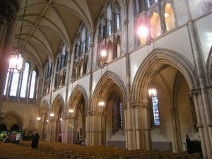 Christ Church Cathedral Dublin. Nave Elevation looking West