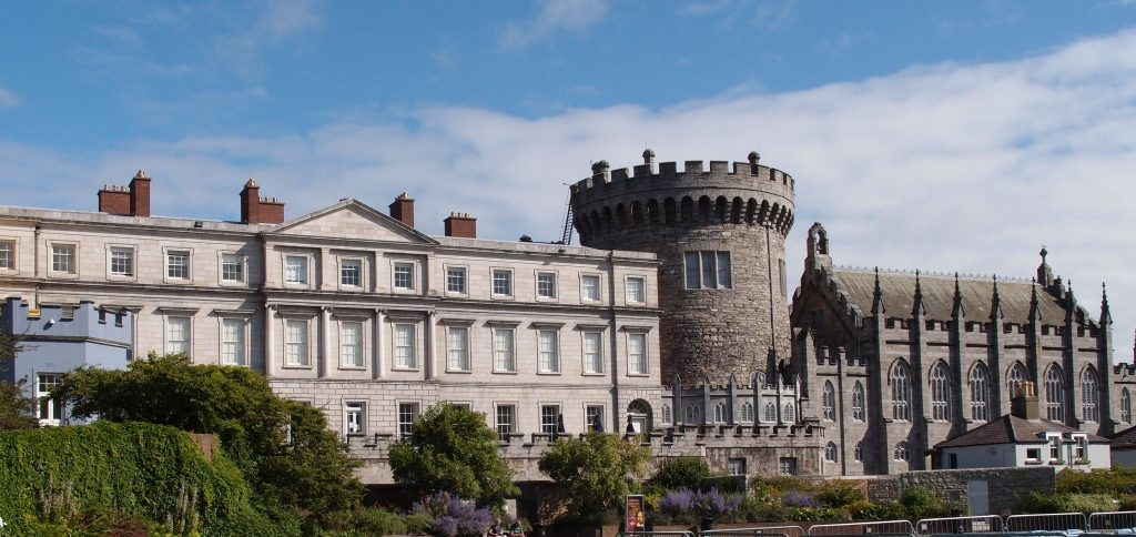 Dublin Castle. Garden Front
