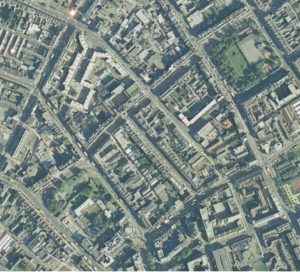 Parnell Square Mountjoy Square aerial view