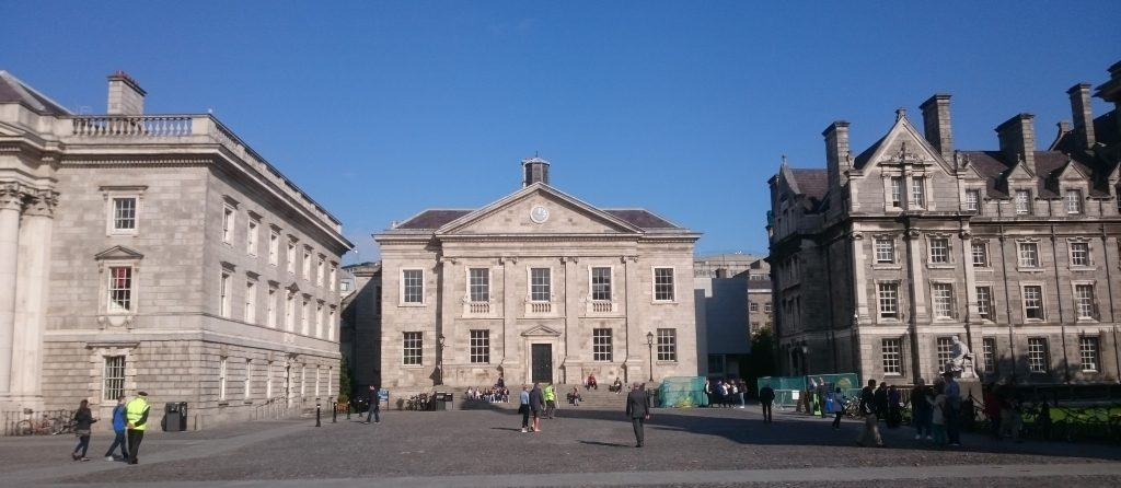 Trinity College Dublin. Front Square. Dining Hall
